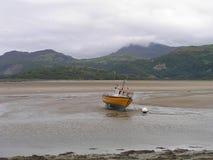 Barca incagliata Fotografia Stock Libera da Diritti