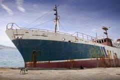 Barca incavata al bacino Fotografie Stock
