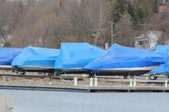 Barca-inverno avvolto Fotografie Stock Libere da Diritti