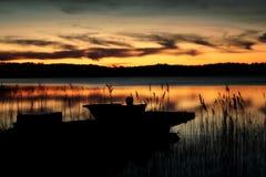 Barca in lago Immagine Stock