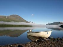 Barca in Lappland Fotografia Stock