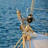 Barca legata al bacino fotografia stock