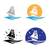 Barca Logo Set illustrazione di stock