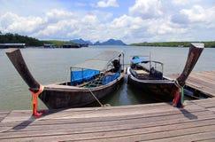Barca Long-tailed Fotografia Stock Libera da Diritti