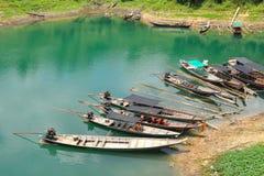 Barca lungo-munita legno Fotografia Stock