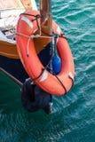 Barca Malta della salvavita fotografia stock libera da diritti