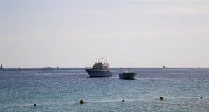 Barca in Mar Rosso Fotografia Stock
