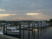 Barca Marina Sunset fotografia stock