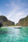 Barca a Maya Bay Immagine Stock