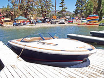 Barca moderna di velocità del mestiere di Chris Fotografie Stock Libere da Diritti