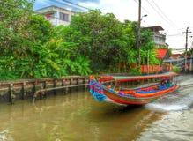 Barca munita lunga Fotografia Stock Libera da Diritti