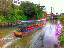 Barca munita lunga Fotografia Stock