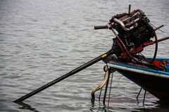 Barca munita lunga tailandese Immagini Stock