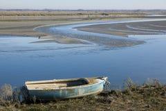 Barca nel Baie de Somme immagine stock