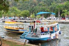 Barca nel Brasile Fotografia Stock Libera da Diritti
