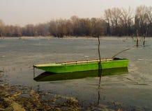 Barca nel fiume Fotografia Stock Libera da Diritti