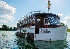Barca nel lago Galve fotografia stock libera da diritti