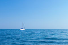 Barca nel Mar Nero Fotografie Stock Libere da Diritti