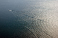 Barca nel mare Immagini Stock Libere da Diritti
