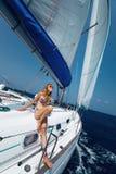 Barca nel mare Fotografia Stock