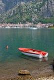 Barca nel Mediterraneo - il Montenegro Fotografie Stock Libere da Diritti