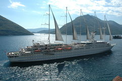 Barca nel Montenegro fotografia stock libera da diritti