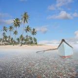 Barca nel paradiso Fotografia Stock Libera da Diritti