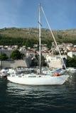 Barca nel porto Fotografia Stock Libera da Diritti