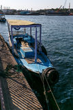 Barca nel porto Immagine Stock