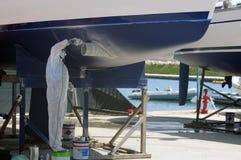 Barca nella manutenzione Fotografie Stock
