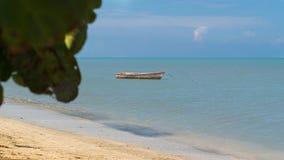 Barca nella spiaggia Fotografia Stock
