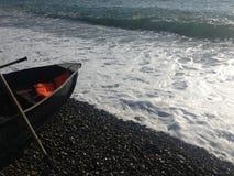 Barca nella spuma Immagini Stock Libere da Diritti