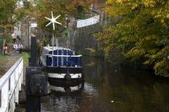 Barca nello skipton Fotografia Stock Libera da Diritti