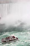 Barca in Niagara Falls Fotografie Stock