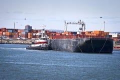 Barca no rio Imagem de Stock
