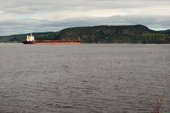 Barca no rio Fotografia de Stock