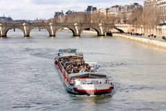 Barca no Seine Fotografia de Stock Royalty Free