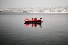 Barca norvegese della guardia costiera Immagini Stock