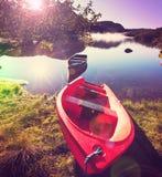 Barca in Norvegia Fotografia Stock