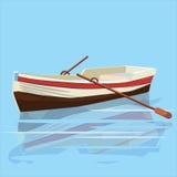 Barca, pagaia, insegna Fotografia Stock