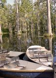 Barca in palude Fotografia Stock
