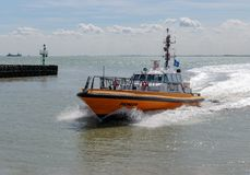 Barca pilota del porto al vlissingen i Paesi Bassi Fotografia Stock