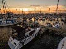 Barca in porto immagine stock libera da diritti