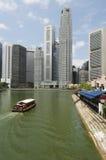 Barca Quay & centro direzionale, Singapore Immagine Stock