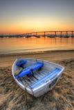 Barca a remi a riposo Fotografia Stock