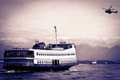 Barca Rio-Niteroi ferry boat on Baia de Guanabara Royalty Free Stock Photography