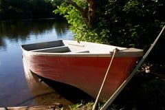 Barca rossa Fotografie Stock