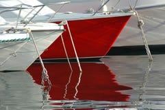 Barca rossa Fotografia Stock