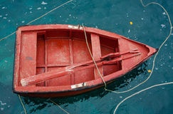 Barca rossa Immagini Stock Libere da Diritti
