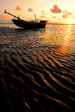Barca & runrise Fotografia Stock